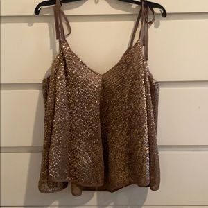 ASTR Sequin Top Blouse NWT M Xmas Party